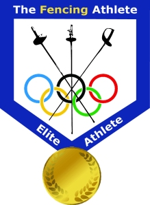 Fencing Athlete Logo